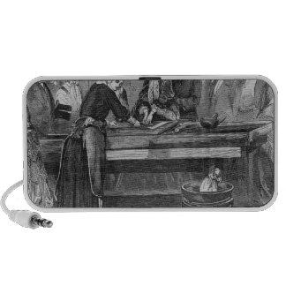 Empress Eugenie silvering a mirror Notebook Speaker