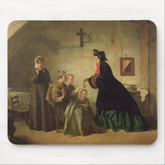 Empress Eugenie  Visiting the Unfortunate, 1864 Mouse Pad