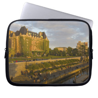 Empress Hotel and Inner Harbour waterfront, Laptop Sleeve