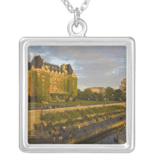 Empress Hotel and Inner Harbour waterfront, Square Pendant Necklace