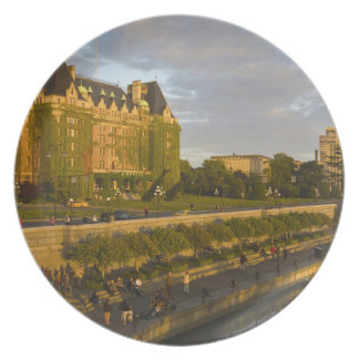 Empress Hotel and Inner Harbour waterfront, Plate