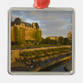 Empress Hotel and Inner Harbour waterfront, Silver-Colored Square Decoration