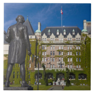 Empress Hotel and statue of Captain James Cook, Large Square Tile