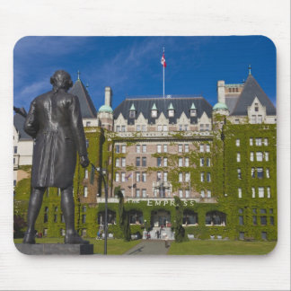Empress Hotel and statue of Captain James Cook, Mouse Pad