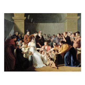 Empress Josephine  Among the Children, 1806 Postcard