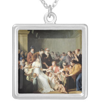 Empress Josephine  Among the Children, 1806 Silver Plated Necklace