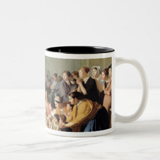 Empress Josephine  Among the Children, 1806 Two-Tone Coffee Mug