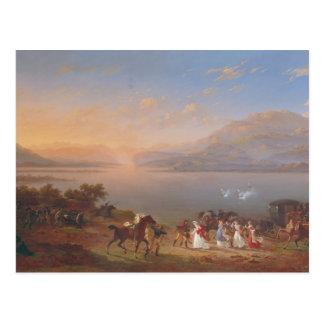 Empress Josephine  arriving to visit Napoleon Postcard