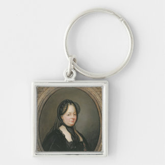 Empress Maria Theresa  of Austria Silver-Colored Square Key Ring