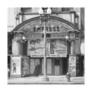 Empress Movie Theater 1939 Canvas Print