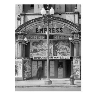 Empress Movie Theater, 1939 Postcard