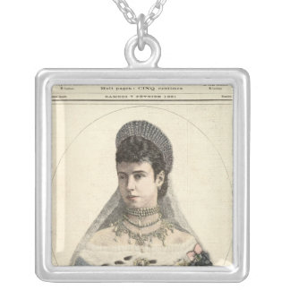 Empress of Russia Silver Plated Necklace