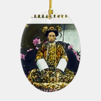 Empress Shōken of Japan Vintage Ceramic Oval Decoration