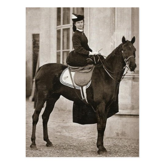 Empress Sissi riding horse sidesaddle #024SS Postcard