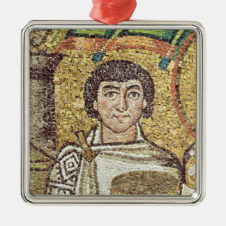 Empress Theodora Silver-Colored Square Decoration