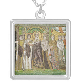 Empress Theodora Silver Plated Necklace