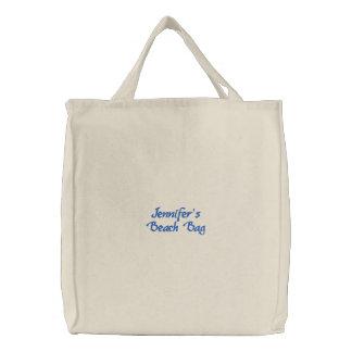 Emproidered Beach Bag