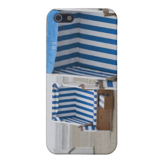 empty beach chairs on beach iPhone 5 covers