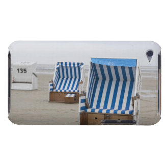 empty beach chairs on beach iPod touch covers