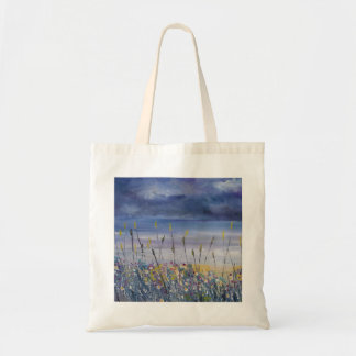 Empty beach, seascape, nautical shopping bag