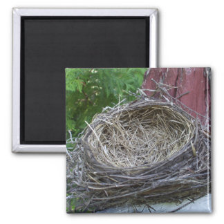 Empty Bird's Nest Square Magnet