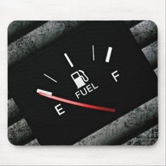 Empty Black Fuel Gas Gauge Mouse Mat