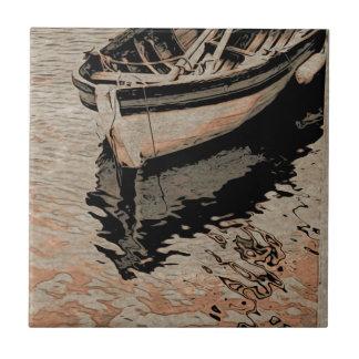 Empty boat small square tile