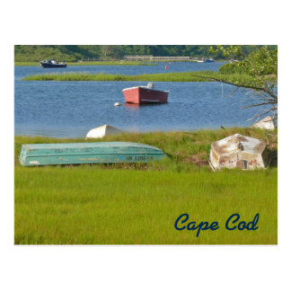 Empty Boats Picturesque Cape Cod Inlet and Marsh Postcard