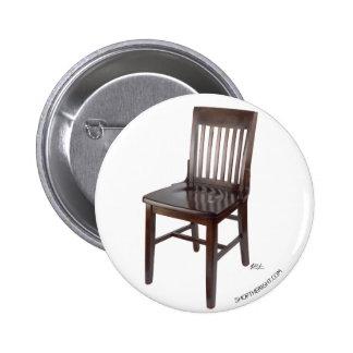 Empty Chair 6 Cm Round Badge