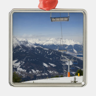 Empty Chair Lift Christmas Ornament