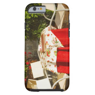 Empty chairs at a sidewalk cafe, Piazza della Tough iPhone 6 Case