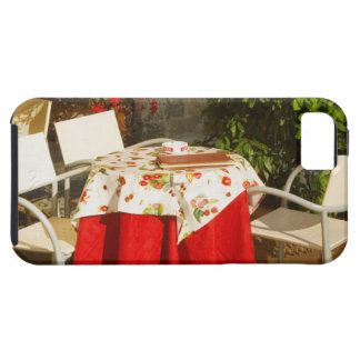 Empty chairs at a sidewalk cafe, Piazza della Tough iPhone 5 Case