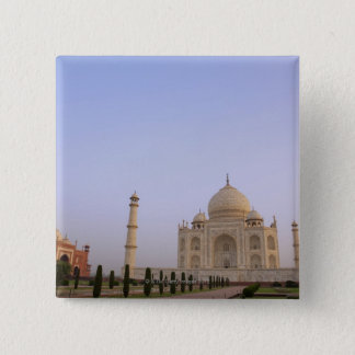 Empty Charbagh gardens at the Taj Mahal in the 15 Cm Square Badge