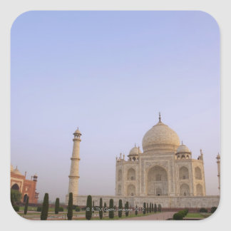 Empty Charbagh gardens at the Taj Mahal in the Square Sticker