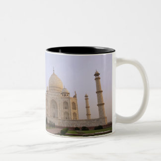 Empty Charbagh gardens at the Taj Mahal in the Two-Tone Coffee Mug