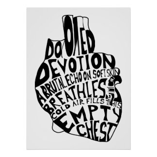 empty chest : anatomical heart poster
