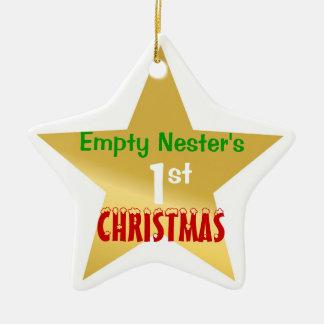Empty Nest 1st Christmas Gold Star Ceramic Star Decoration