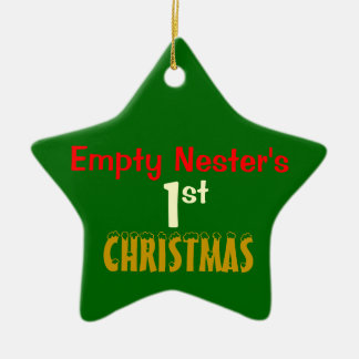 Empty Nest 1st Christmas Green Star Ceramic Star Decoration