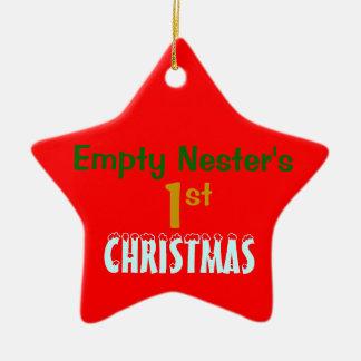 Empty Nest 1st Christmas Red Star Ceramic Star Decoration