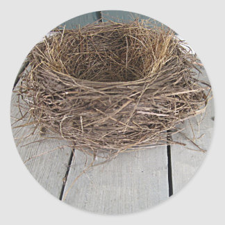 Empty nest classic round sticker