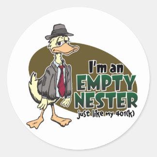 Empty Nest Round Sticker