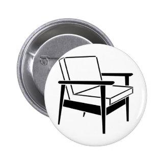 Empty Office Chair 6 Cm Round Badge