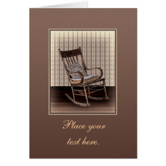 Empty Old Vintage Rocking Chair Greeting Card