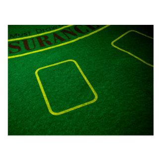 Empty Poker Table Closeup Postcard
