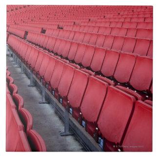 Empty Seats in Stadium Large Square Tile