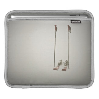 Empty Skis and Poles iPad Sleeve