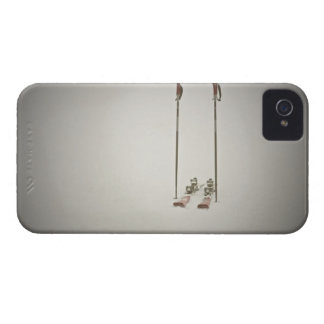 Empty Skis and Poles iPhone 4 Case-Mate Cases