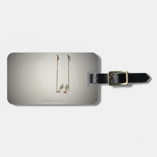 Empty Skis and Poles Luggage Tag