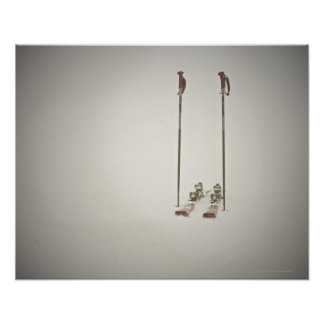 Empty Skis and Poles Poster