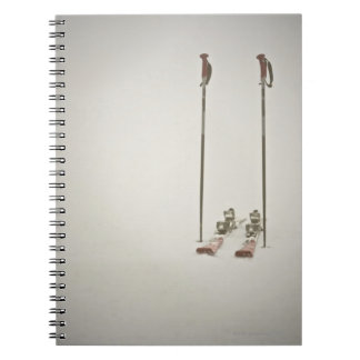 Empty Skis and Poles Spiral Notebook